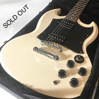 エピフォン(Epiphone)の【美品】Epiphone by Gibson SG G-310 ホワイト 白(エレキギター)