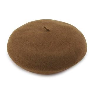 ザヴァージニア(The Virgnia)の半額以下!新品the Virginiaザ ヴァージニア ウールベレー帽ブラウン(ハンチング/ベレー帽)