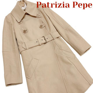 パトリツィアペペ(PATRIZIA PEPE)のパトリッツァぺぺ 超お洒落 スタイリッシュ ウール コート ベージュ 美品(ロングコート)