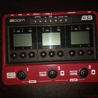 ズーム(Zoom)のzoom B3(ベースエフェクター)