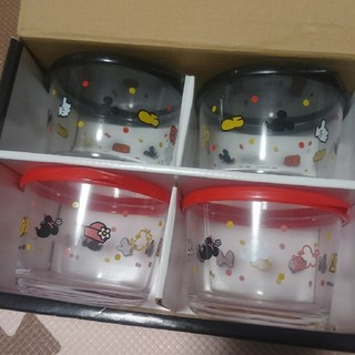 ディズニー(Disney)の【新品】ディズニー ガラス製フードコンテナセット(容器)