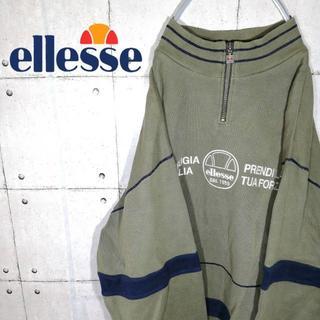 エレッセ(ellesse)の90s 古着 エレッセ ハーフジップ ニット セーター(ニット/セーター)