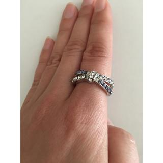 ラインストーン 指輪 リング アクセサリー シルバー パープル シンプル(リング(指輪))