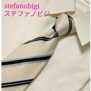ステファノビジ(STEFANOBIGI)の♥綺麗 stefanobigi ステファノビジ ストライプ ネクタイ 高級シルク(ネクタイ)