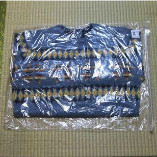 セシール(cecile)の未開封 洗えるノルディック柄ニットクルーネックセーター ブルー系 LLサイズ(ニット/セーター)