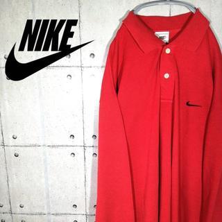 ナイキ(NIKE)の90s 古着 NIKE ナイキ ポロシャツ スウォッシュ 長袖(ポロシャツ)