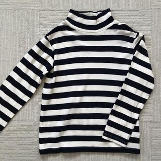 MUJI (無印良品) - 無印 ボーダーハイネックTシャツ