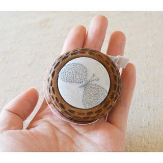 mina perhonen - ハンドメイドの木のメジャー 素朴な木のぬくもり ミナペルホネン ちょうちょ 刺繍