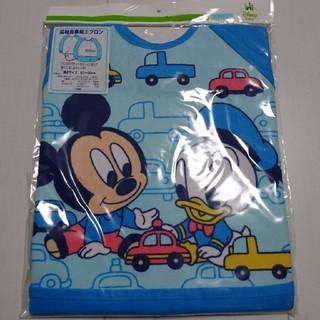 ディズニー(Disney)の新品未開封ベビーミッキードナルド長袖食事用エプロン(お食事エプロン)