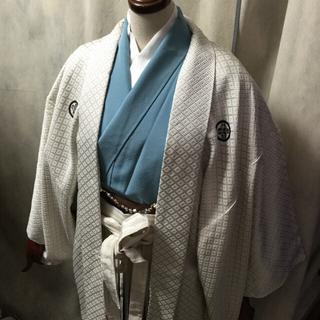 お直し無料 大人気ブルー 袴セット 卒業式 小学生男子(着物)
