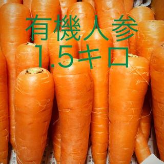 九州産 小さめ有機甘人参【有機JAS認証取得】(野菜)