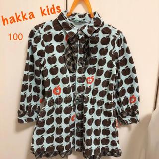 ハッカ(HAKKA)のハッカキッズ 100 ワンピース シャツワンピ(ワンピース)
