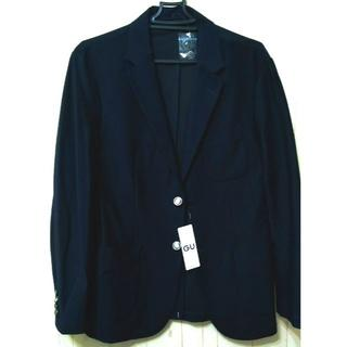ジーユー(GU)の2018年新品 GU ジーユー ネイビー ジャケット M-L定価4990円(テーラードジャケット)