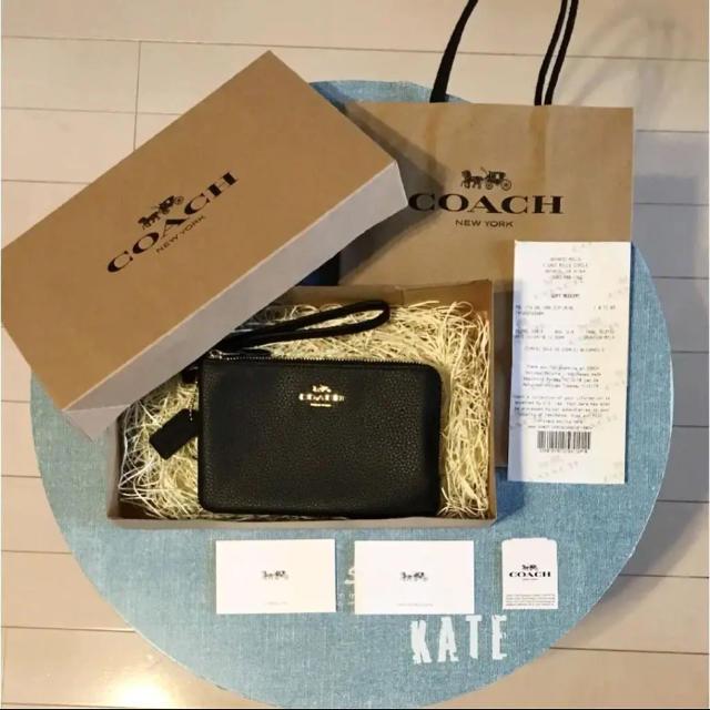fendi iphone7plus カバー 財布 | COACH - 新品未使用 コーチ ダブルジップ ポーチ 財布 iPhoneケース BK ラストの通販 by kate's shop|コーチならラクマ