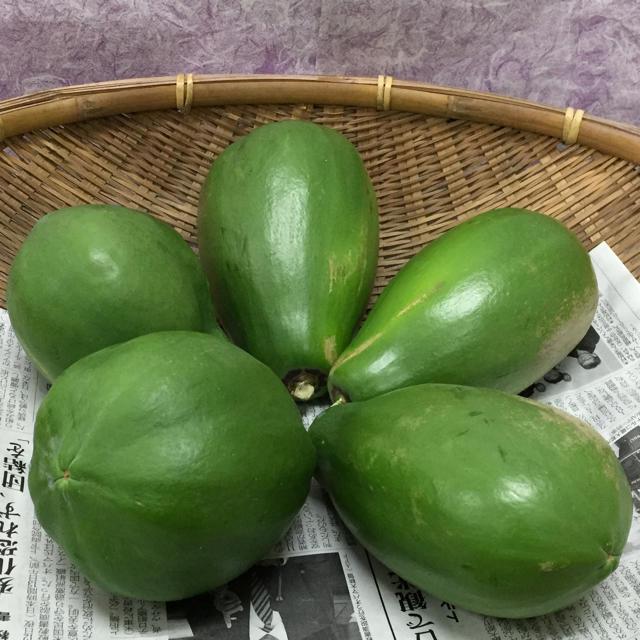 宮古島産パパイヤ(5個) 食品/飲料/酒の食品(野菜)の商品写真