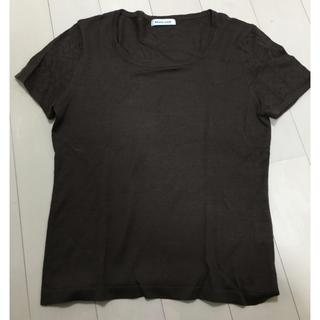 スタイルコム(Style com)のスタイルコム 半袖ニット ブラウンMサイズ(カットソー(半袖/袖なし))