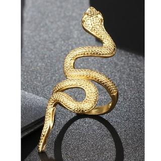 指輪 とぐろ ロング ゴールド 蛇 ヘビ レディース インスタ映え 金運(リング(指輪))