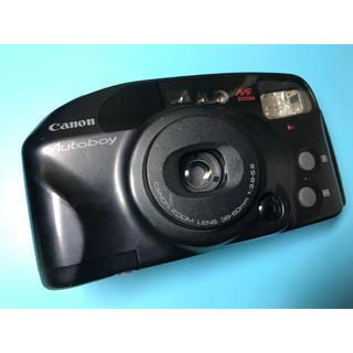 キヤノン(Canon)の大人気! 美品! メッセージが入るユニークなカメラ Canon autoboy(フィルムカメラ)