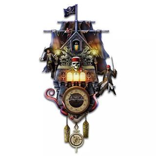ディズニー(Disney)のディズニー パイレーツオブカリビアン 壁掛け時計 鳩時計 カッコウ 証明書付き(掛時計/柱時計)