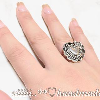 ハンドメイド リング 指輪 ハートコンチョ(リング)