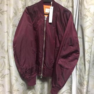 フィアオブゴッド(FEAR OF GOD)の【S】FOG bomber jacket ワインレッド(フライトジャケット)