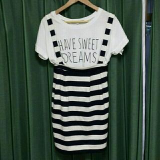 ジエンポリアム(THE EMPORIUM)の値下げ中!Tシャツサスペスカートセット(Tシャツ(半袖/袖なし))