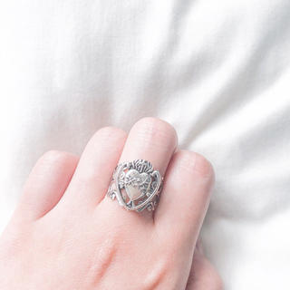 💔 Vintage Silver Heart Concho ring(リング)