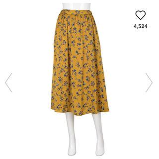 ジーユー(GU)のGU フレアスカート 花柄スカート(ロングスカート)