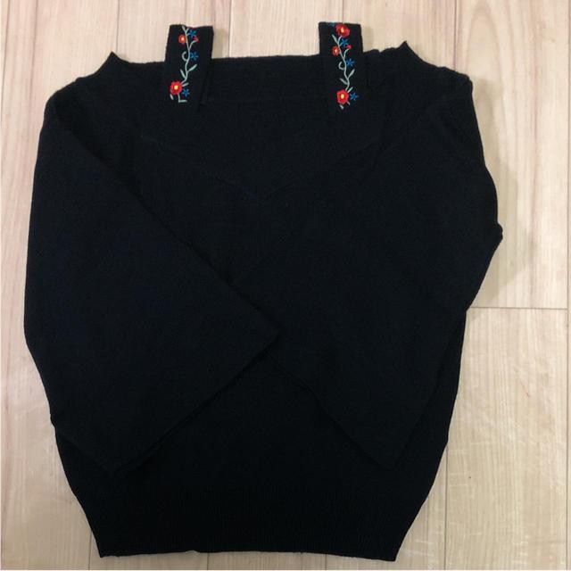 しまむら(シマムラ)の刺繍ニット レディースのトップス(ニット/セーター)の商品写真