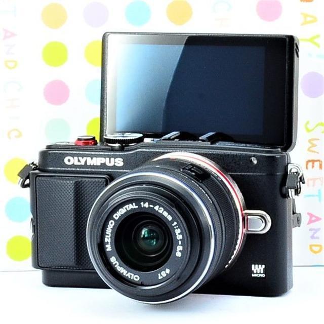 OLYMPUS(オリンパス)の✨お洒落な本格ミラーレス✨オリンパス OLYMPUS E-PL6 スマホ/家電/カメラのカメラ(ミラーレス一眼)の商品写真