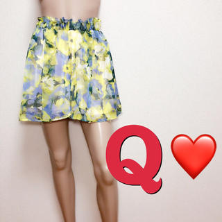 キュー(Q)のゆるかわ♪キュー♡ きれいめフラワーキュロット♡スナイデル リエンダ(キュロット)