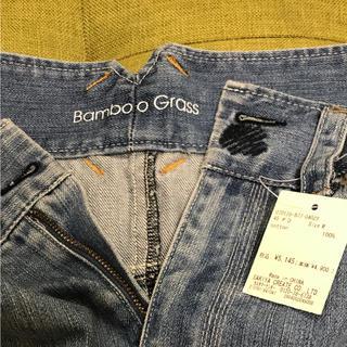 バンブーブラス(BAMBOO GRASS)の【新品】バンブーグラス デニムスカート タグ付(ひざ丈スカート)