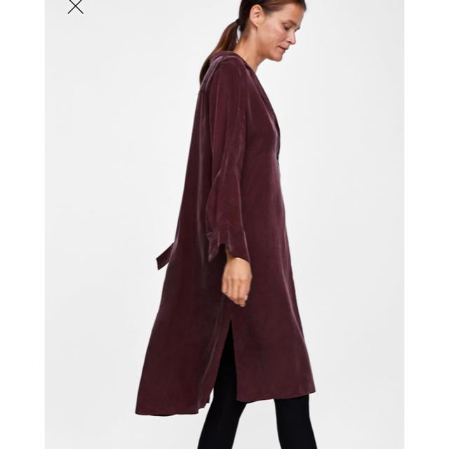 ZARA(ザラ)の土日売り切り‼️値下げ‼️ZARA 新品 ベンツ入りシャツ風チュニックワンピース レディースのワンピース(ひざ丈ワンピース)の商品写真