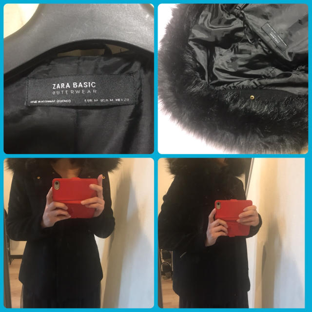 ZARA(ザラ)の*Ringo様専用*ZARA ボリュームファーコート black レディースのジャケット/アウター(その他)の商品写真