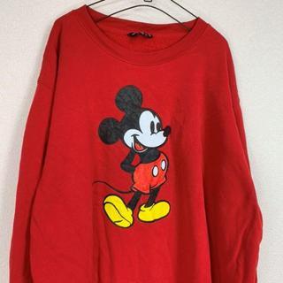 ディズニー(Disney)のDisney red sweatshirt(スウェット)