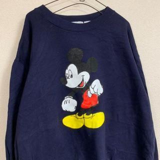 ディズニー(Disney)のnavy Disney design sweatshirt(スウェット)