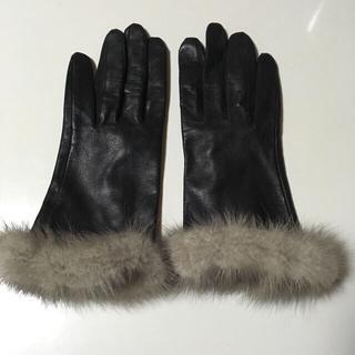 ジャンフランコフェレ(Gianfranco FERRE)のジャンフランコフェレ ラム革 ミンクファーグローブ(手袋)
