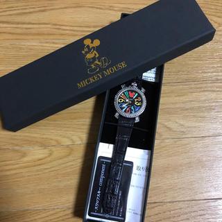 ディズニー(Disney)の【美品】ディズニー 時計 スワロフスキー 箱付き(腕時計(アナログ))