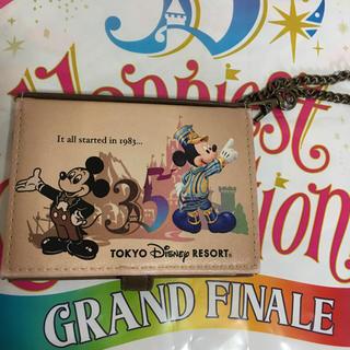 ディズニー(Disney)のTDRヒストリーミッキー 定期入れ(名刺入れ/定期入れ)