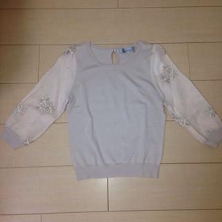 リランドチュール(Rirandture)の新品リランドチュール フラワー刺繍ニット(ニット/セーター)