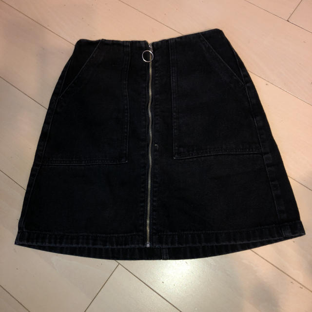 GU(ジーユー)のGUのフロントファスナー、デニムスカート レディースのスカート(ミニスカート)の商品写真