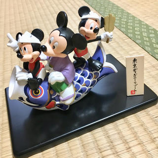 ディズニー(Disney)のほぼ新品未使用!ディズニーリゾート限定!ミッキー 陶器五月人形(置物)