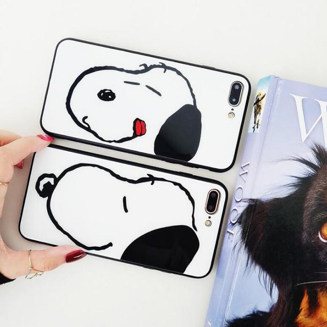 iphoneケース スヌーピー スマホケース      スマホ/家電/カメラのスマホアクセサリー(iPhoneケース)の商品写真