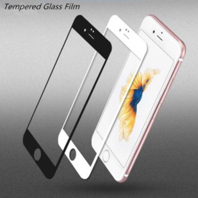 iPhone 7/8☆3D曲面フルカバー強化ガラスフィルム☆ スマホ/家電/カメラのスマホアクセサリー(保護フィルム)の商品写真