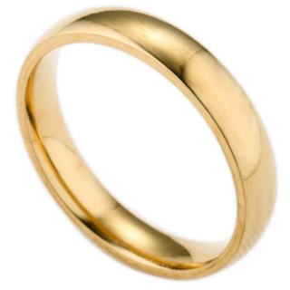 シンプルなファッションリング (ゴールド)(リング(指輪))