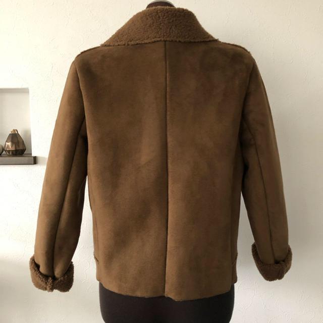 GU(ジーユー)のシープスキン風ライダースジャケット レディースのジャケット/アウター(ライダースジャケット)の商品写真