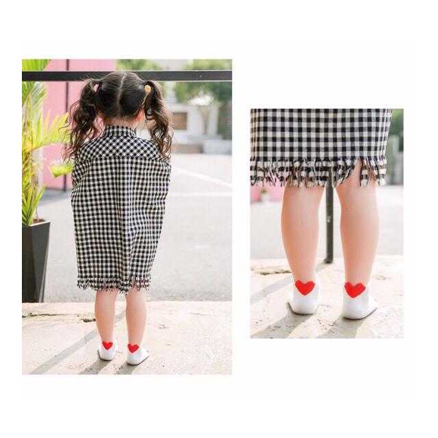 ラスト1セット❗️❪16-19cm❫ハート ポイント 韓国 キッズソックス キッズ/ベビー/マタニティのこども用ファッション小物(靴下/タイツ)の商品写真