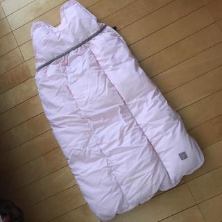 クーシーズ(Kushies)の最終値下♪美品 クーシーズ ベビー マフ 寝袋 ベビーカー ピンク(おくるみ/ブランケット)