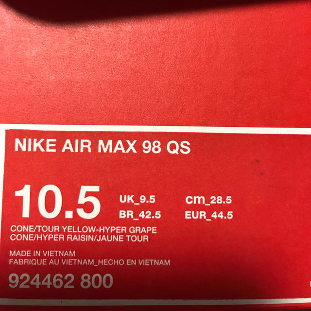 NIKE(ナイキ)のろーず様専用〉nike airmax98 28.5cm メンズの靴/シューズ(スニーカー)の商品写真