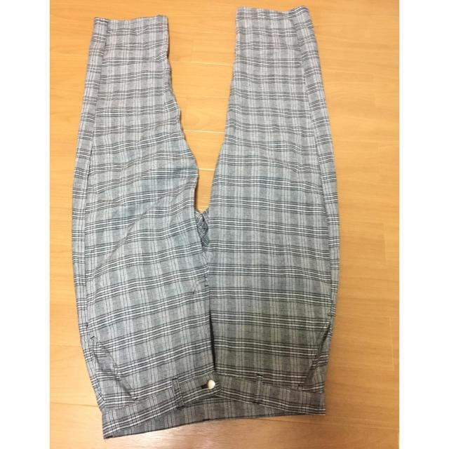 GU(ジーユー)のkutirチェックワイドパンツ メンズのパンツ(スラックス)の商品写真